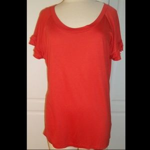 MERCER STREET STUDIO orange T-shirt blouse XL
